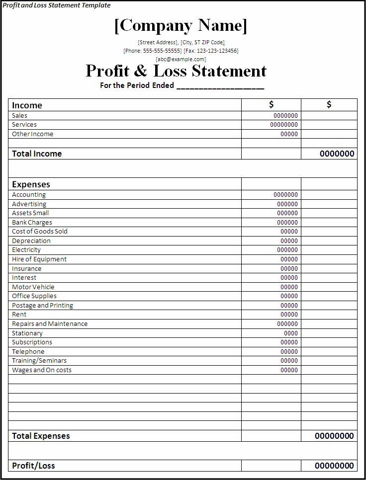 Profit-and-Loss-Statement-Template - Chapman Business Services